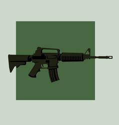 Infantry weapons modern assault rifle vector