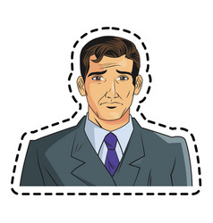 Isolated man cartoon with suit design vector