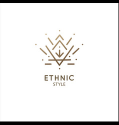 Logo geometric elements template squire vector