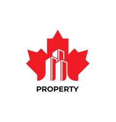 Maple leaf logo vector
