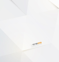 Modern white polygon background vector image