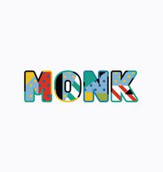 Monk concept word art vector