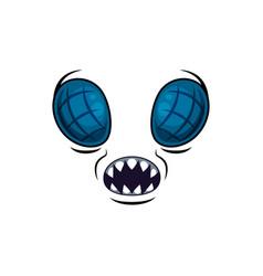 Monster face cartoon icon creepy muzzle vector