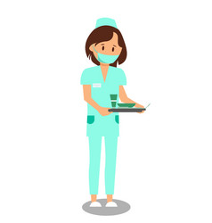 nurse doctor assistant flat vector image