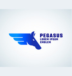 pegasus sign symbol or logo vector image