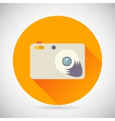 Photography symbol compact camera zoom icon vector
