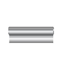 Realistic roll of aluminium foil icon vector