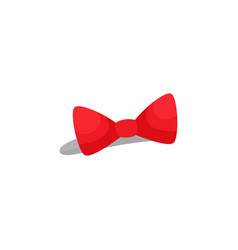 Red bow headband hair accessory for a little girl vector