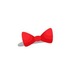 Red bow headband hair accessory for a little girl vector