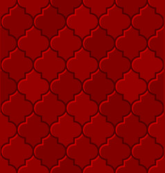 red turkish mosque seamless tile pattern vector image