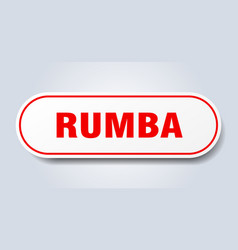 Rumba sign rounded isolated button white sticker vector