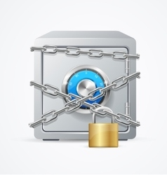 Safe and Lock Security Concept vector