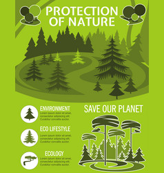 Save planet poster for ecology nature protection vector