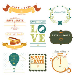 save the date tag vector image