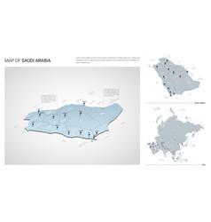 Set saudi arabia country isometric 3d map vector