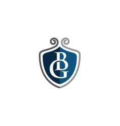 shield symbol logo template vector image