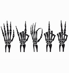 Skeleton hand set vector