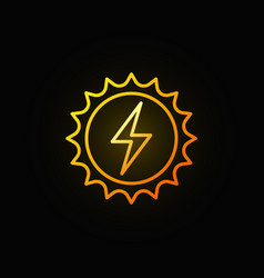 solar energy concept colorful icon vector image