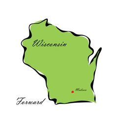 State of wisconsin vector