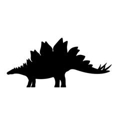 Stegosaurus silhouette vector