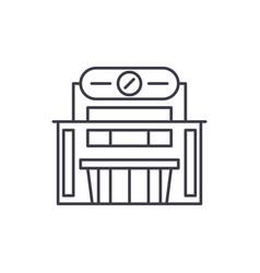 supermarket line icon concept supermarket vector image