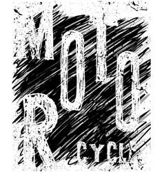 tee vintage motorbike race hand drawing t-shirt vector image