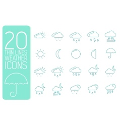 thin line weather set icons concept design vector image