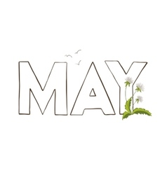 Vercor of May month name vector