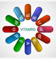Vitamins icon vector