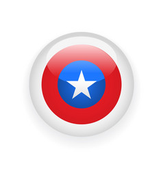 voting round badge with american flag vector image