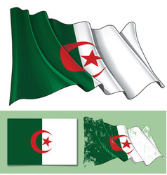 waving flag of algeria vector image