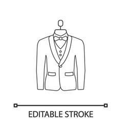 wedding tuxedo linear icon vector image
