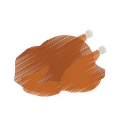 whole chicken or turkey icon image vector image