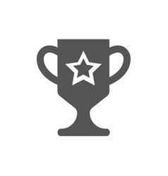 Win award trophy cup icon sign flat style vector