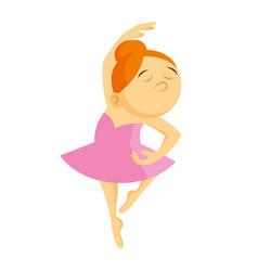 girl is dancing little ballerina vector image