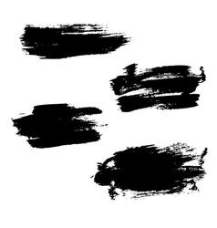 Grunge brushes stroke texture set vector image