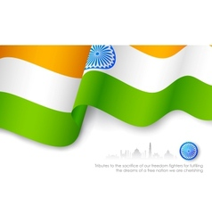 Indian Tricolor Flag vector image