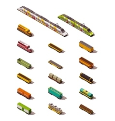 isometric trains vector image vector image