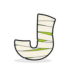 Letter J Mummy Typography icon in bandages vector image
