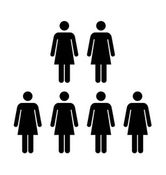 people icon group of women team pictogram symbol vector image