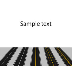 set of roads with white and yellow markings in vector image vector image