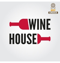 Badge or label for wine winery or wine house vector