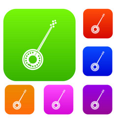 banjo set collection vector image