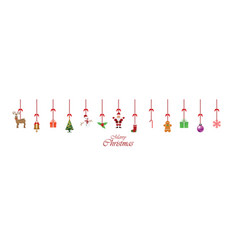 christmas decoration ornament hanging isolated on vector image vector image