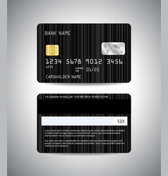 credit cards set with black background design vector image vector image