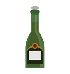 green bottle champagne plastic cork vector image