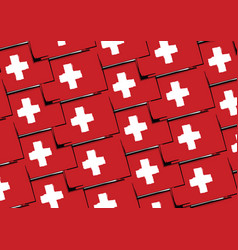 grunge switzerland flag or banner vector image