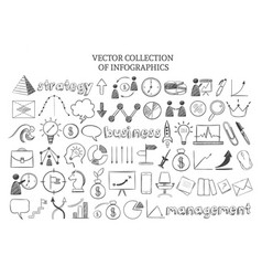 infographic business strategy elements set vector image vector image
