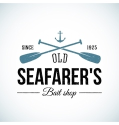 Old Seafarers Bait Shop Vintage Logo vector image vector image