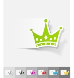 realistic design element crown vector image vector image